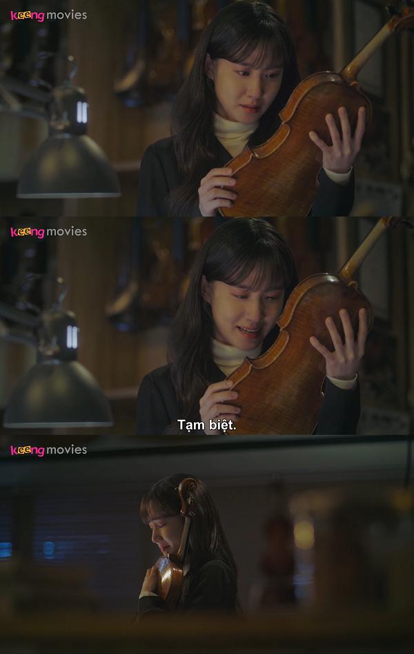 Lời tạm biệt xúc động của Song Ah với cây đàn và cũng là với giấc mơ của mình.