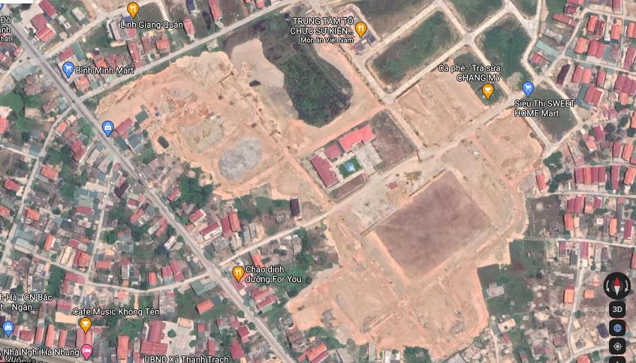 Hình ảnh trên vệ tinh cho thấy nhiều khu vực ở Quảng Bình nước lũ dâng trắng xóa