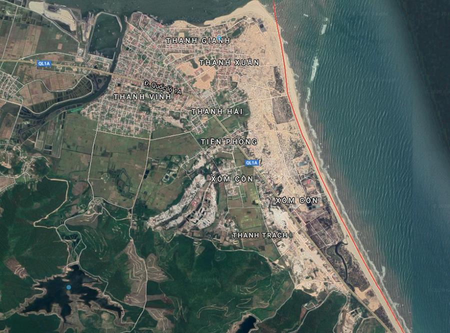 Nhói lòng hình ảnh lũ lụt các tỉnh miền Trung nhìn từ Google Maps 1
