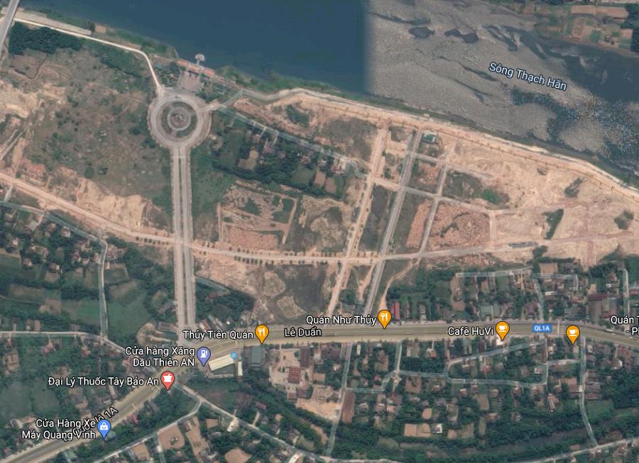 Nhói lòng hình ảnh lũ lụt các tỉnh miền Trung nhìn từ Google Maps 3