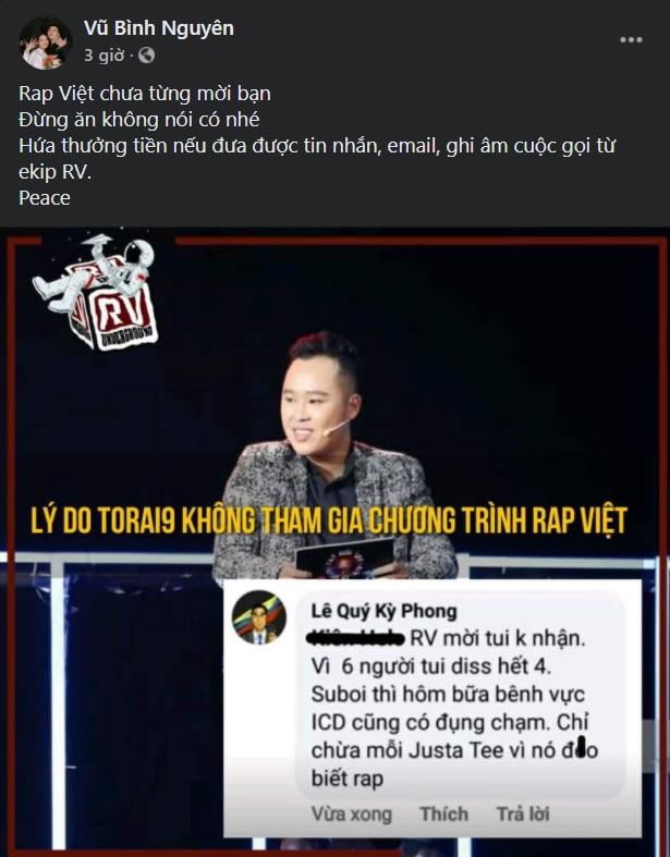 Nhà sản xuất của Rap Việt nhanh chóng đáp trả