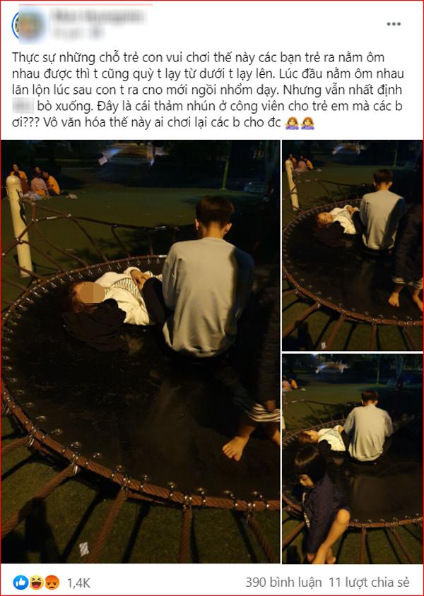 Bài đăng 'tố' hành động kém duyên của cặp đôi trẻ trong công viên nhận được nhiều sự chú ý.