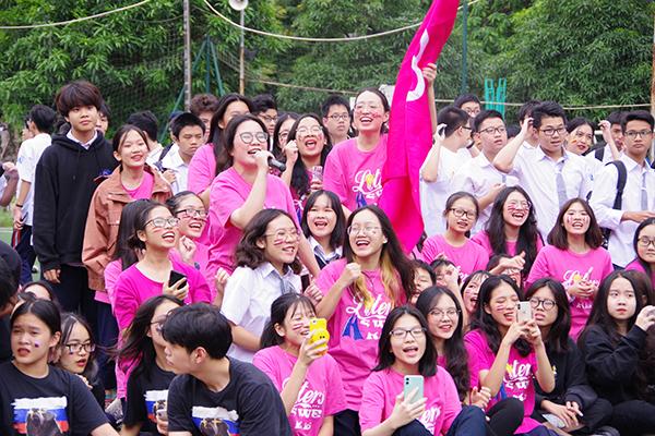 Học sinh trường AMS hào hứng tham gia Ngày hội.