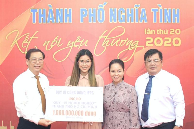 Tiên Nguyễn tiếp tục ủng hộ người nghèo Thành phố Hồ Chí Minh 1 tỷ đồng 0