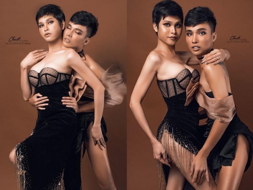 Trần Hoàng Mi và Duy Anh Nguyễn trước cuộc đua Miss International Queen Việt Nam