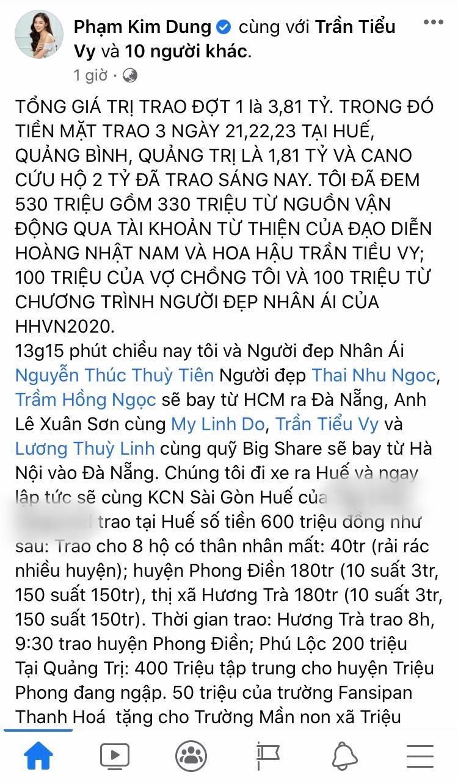 'Bà trùm Hoa Hậu' Phạm Kim Dung cùng dàn Hoa - Á hậu mang vali tiền đến cứu trợ miền Trung 4