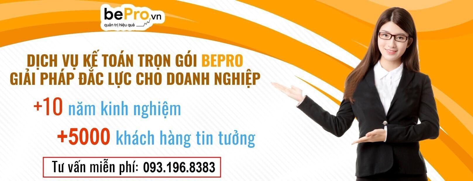 BePro.vn - Chuyên nghiệp hóa hoạt động kế toán với chi phí hợp lý 0