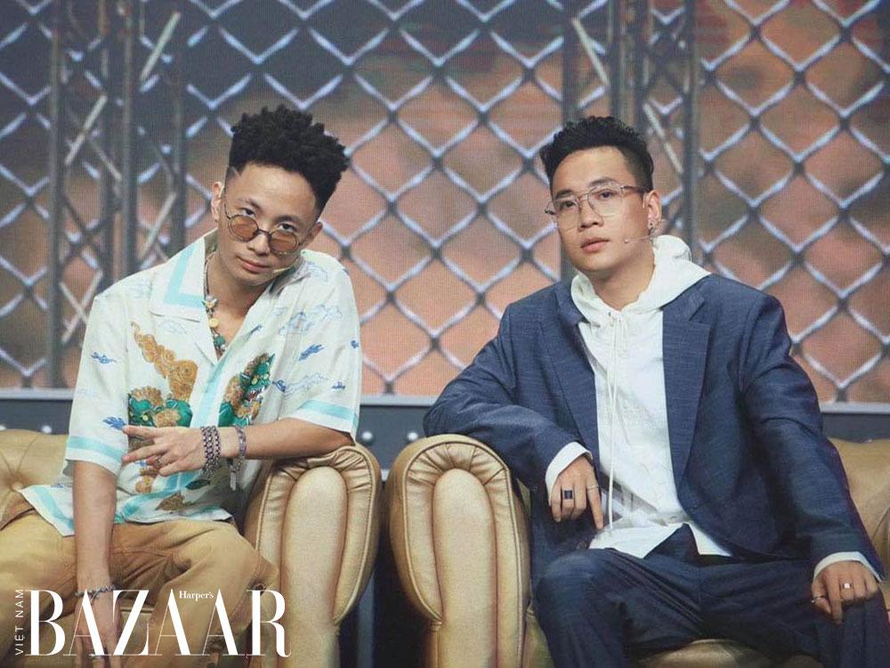 Rhymastic cùng Justatee hiện đang làm giám khảo cho 'Rap Việt'.