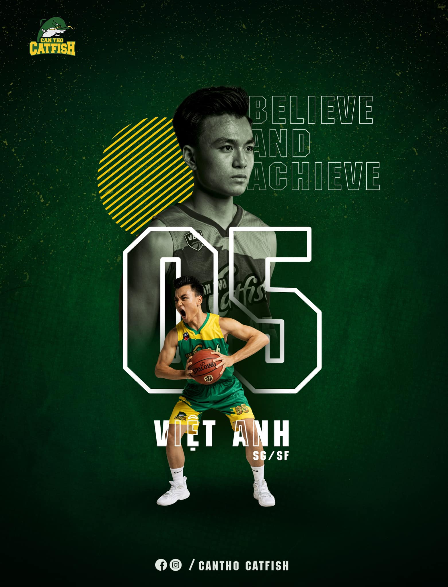 Dàn cầu thủ Cantho Catfish vừa 'nhá hàng' trên poster giới thiệu chính thức 11