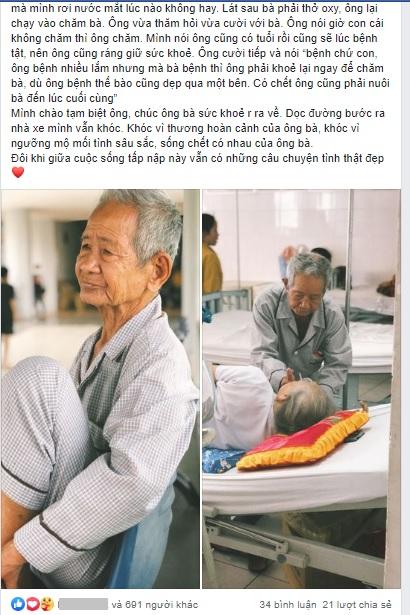 Xúc động cụ ông 85 tuổi một mình chăm sóc vợ tiểu đường nặng: 'Có chết ông cũng phải nuôi bà đến phút cuối cùng' 0
