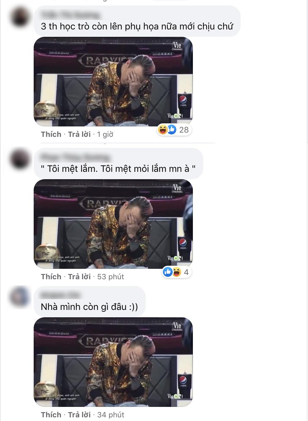 Binz 'đau đầu' với học trò và được cư dân mạng đem ra chế meme
