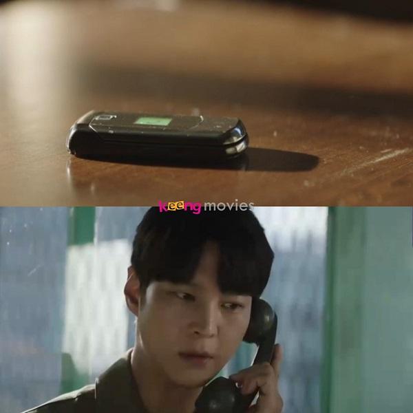 Jin Gyeom lo lắng khi gọi điện nhưng mẹ không bắt máy.
