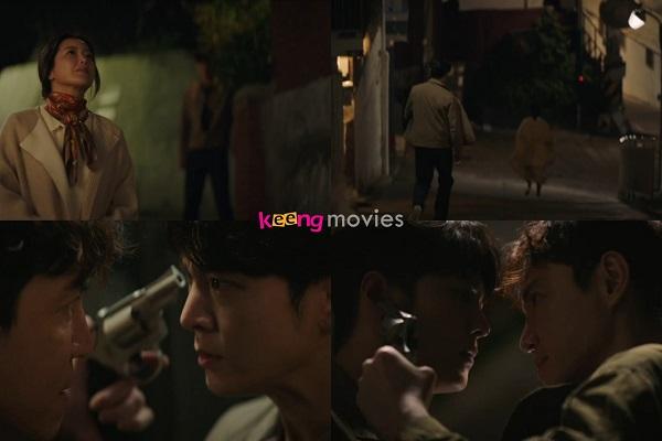 Jin Gyeom theo sát mẹ nhưng lại bị Seok Oh Won chặn lại.