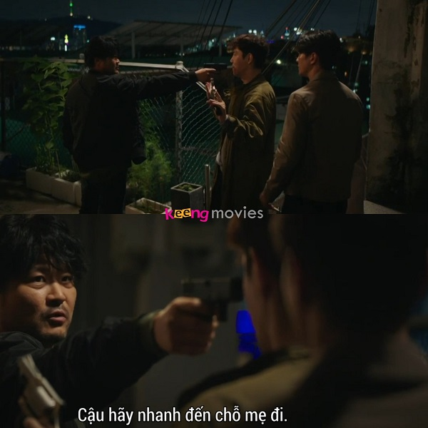 Đội trưởng Ko kịp thời giải vây cho Jin Gyeom.