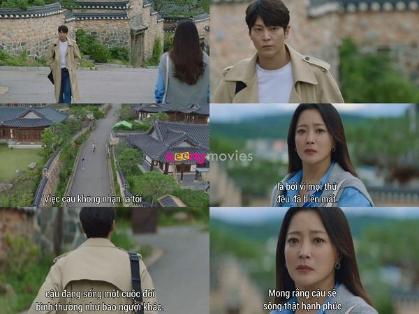 Ánh mắt kỳ lạ của người phụ nữ gặp trên đường khiến Jin Gyeom không khỏi cảm thấy kỳ lạ.