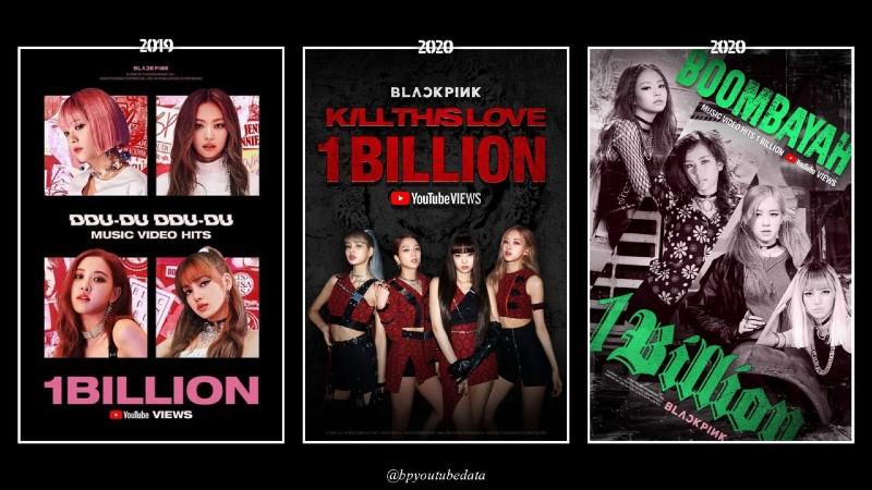 Black Pink đang dẫn đầu tại Kpop với 3 MV tỷ view.