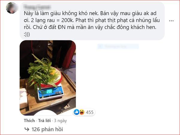 Nhà hàng buffet ở Đà Nẵng bị dân mạng 'tấn công' sau loạt lùm xùm phạt khách 200k vì để thừa 2.9 lạng rau 4