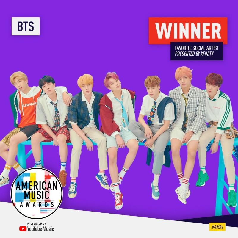 Họ có chiến thắng đầu tiện tại AMAs là vào năm 2018, với hạng mục Favorite Social Artist.