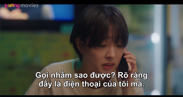 Ae Ri nghĩ Seo Jin đang cầm điện thoại của mình.