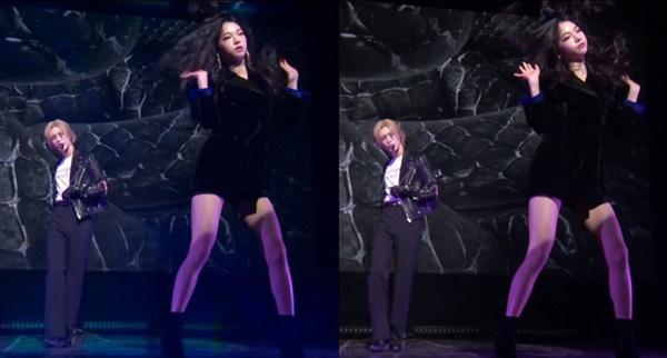 Jimin từng góp mặt trên sân khấu trình diễn 'Want' của Taemin (SHINee) và được chú ý bởi ngoại hình xinh đẹp.