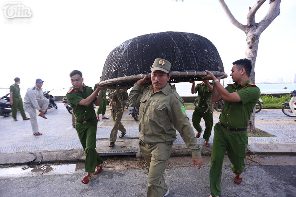 Cũng trong sáng 27/10, những người dân ven biển Đà Nẵng đã tranh thủ sơ tán các tàu thuyền, vật dụng đi biển vào nơi an toàn.