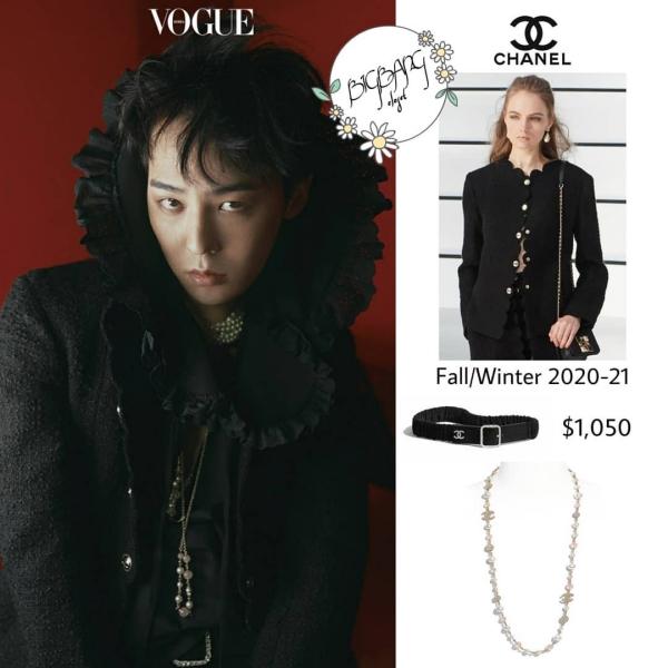 Cũng là trong bộ sưu tập thu đông vừa ra mắt của Chanel, nhưng màu đen còn hợp với 'anh Rồng' hơn