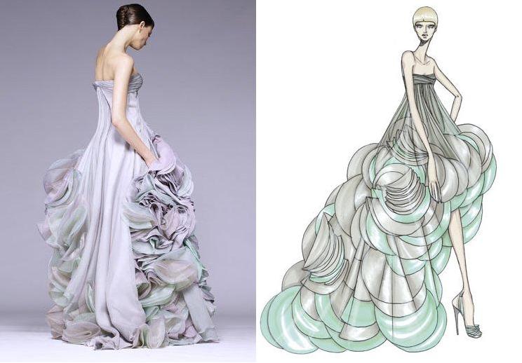 Bộ đầm tinh tế của Atelier Versace do chính tay bà hoàng Donatella Versace phác thảo thực sự tôn lên vẻ đẹp ngọt ngào ở độ tuổi 24 của Anne. Ảnh: Pascal Le Segretain
