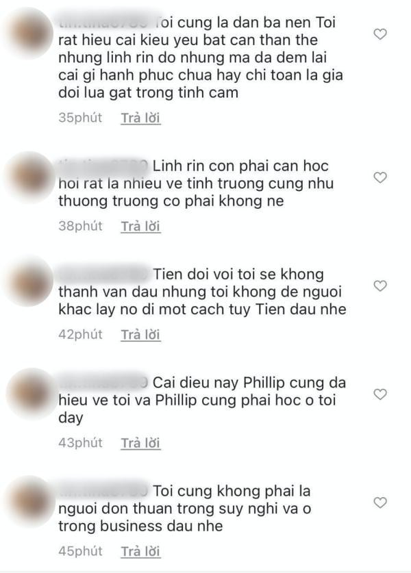 Người phụ nữ hơn 40 tuổi bất ngờ 'bóc phốt' Linh Rin ngăn cản mình đến với Phillip Nguyễn, người đẹp trả lời ra sao? 2