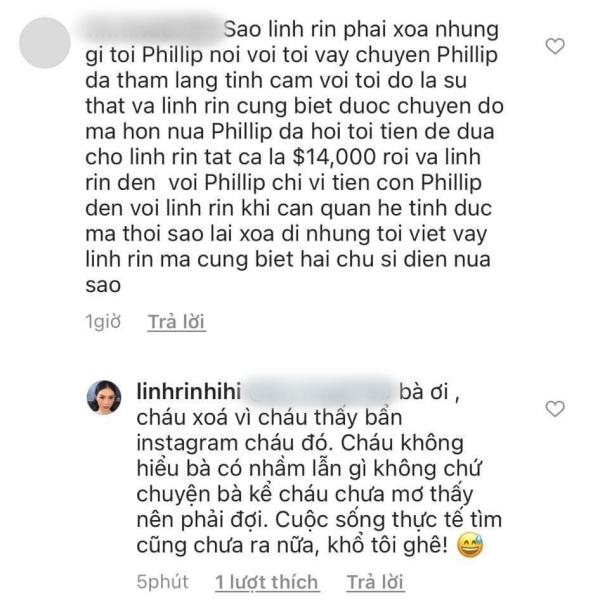 Người phụ nữ hơn 40 tuổi bất ngờ 'bóc phốt' Linh Rin ngăn cản mình đến với Phillip Nguyễn, người đẹp trả lời ra sao? 4