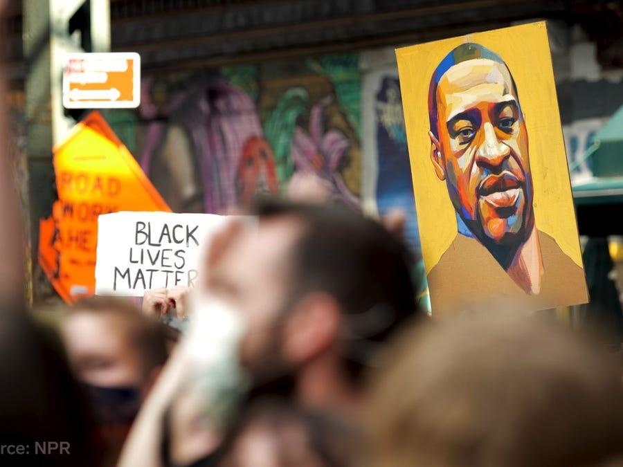 Những cuộc biểu tình đòi công lý cho George Floyd kéo dài tới hơn 3 tháng sau đó. Ảnh: Adam Miller/Insider.