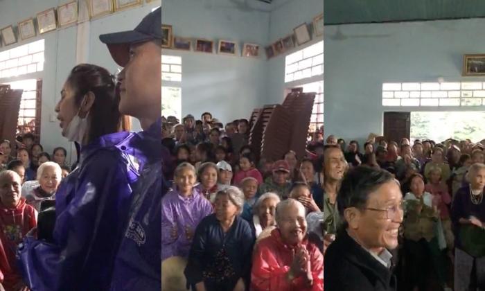 Thủy Tiên - Công Vinh viện trợ ở Quảng Bình, liên tục nhắc câu nói gây xúc động: 'Vợ chồng con thay mặt đồng bào cả nước' 2