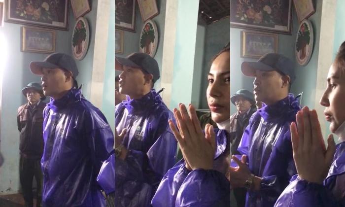 Thủy Tiên - Công Vinh viện trợ ở Quảng Bình, liên tục nhắc câu nói gây xúc động: 'Vợ chồng con thay mặt đồng bào cả nước' 3