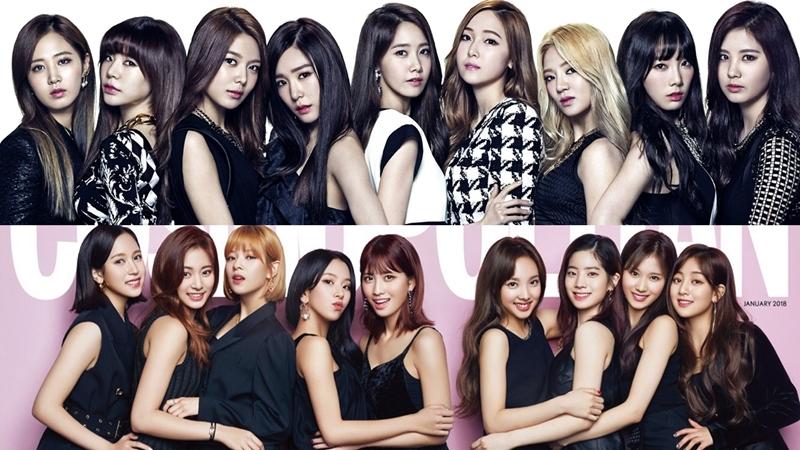 Trước đó, 'vườn bông nhà JYP' – TWICE cũng từng nhận nhiều 'chỉ trích' khi ra mắt với đội hình 9 người. Cụ thể, girlgroup nhà JYP bị nhận xét là 'bản sao' của nhóm nhạc tiền bối SNSD khi không những tương đồng về mặt đội hình, mà đến cả concept, trang phục đều 'na ná' nhóm nhạc đàn chị.