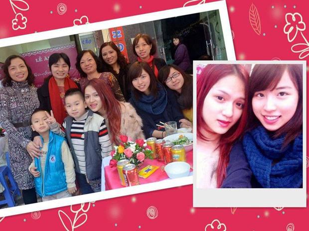 Cô Nhung còn được biết đến là em gái họ của hoa hậu Hương Giang