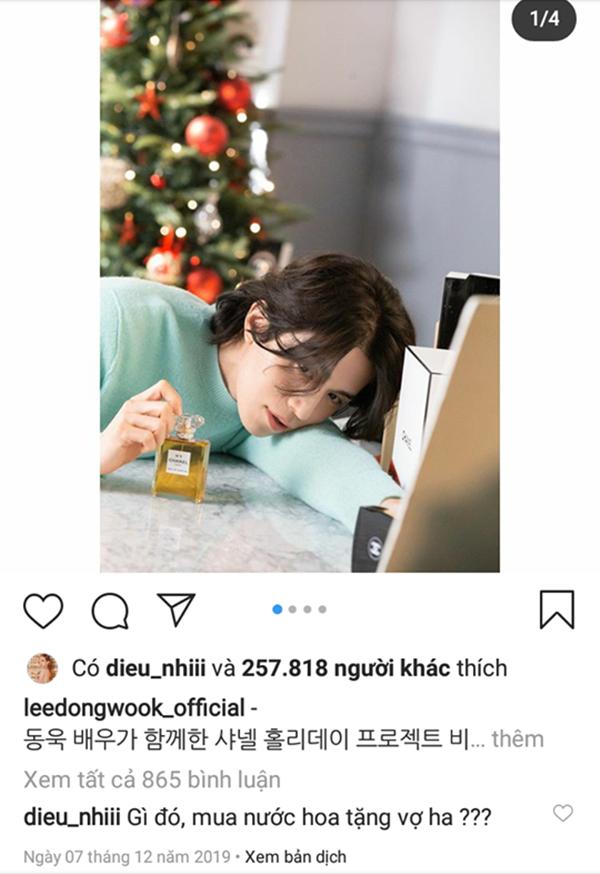 Diệu Nhi tiếp tục 'mất liêm sỉ' chế ảnh chăm sóc 'hồ ly' Lee Dong Wook 2