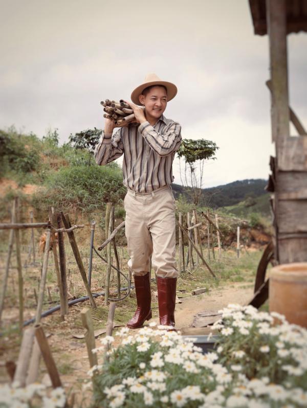 Thành Đạt - Hải Băng tung bộ ảnh gia đình nông dân siêu đáng yêu 8
