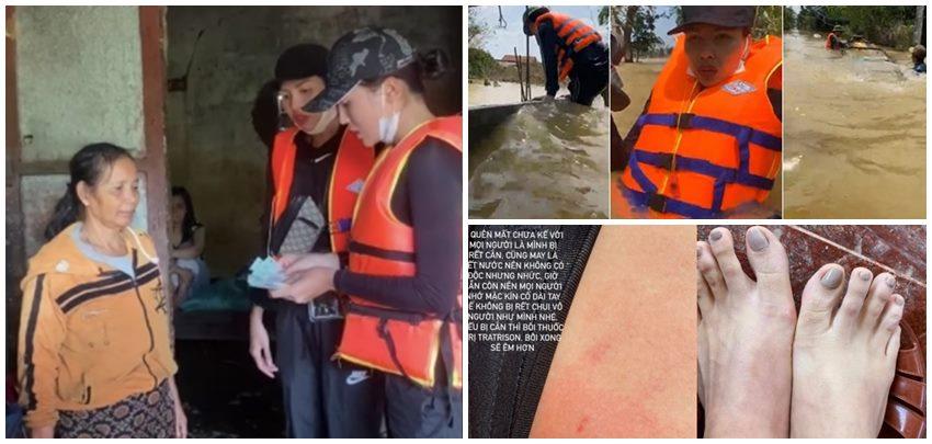 Đi cứu trợ miền Trung, loạt sao Việt phải chấp nhận vô vàn khó khăn 3