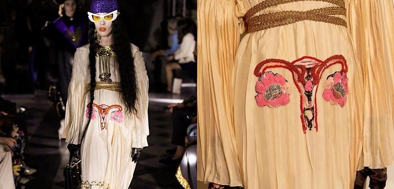 Chẳng cần biết đúng sai, Gucci cho ra mắt mẫu váy in hình bộ phận của phụ nữ một cách lộ liễu trong bộ sưu tập 'Gucci Cruise 20'và đã phải nhận 'cơn mưa' chỉ trích vì quá phản cảm.