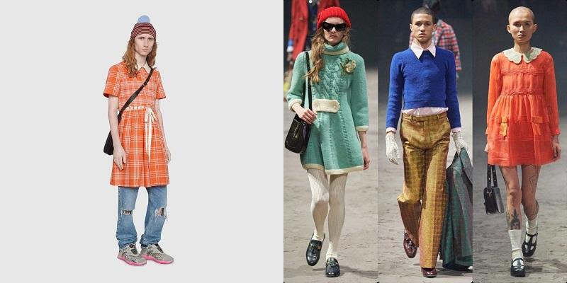 Hồi đầu tháng nhà tạo mốt đình đám cũng khiến giới mộ điệu 'dậy sóng'với hình ảnh các chàng mẫu nam mặc váy 50 triệu đồng. Bên cạnh nhiều người cho rằng 'lố lăng', châm biếm, có người lại đánh giá cao những ý tưởng sáng tạo này. Một số chuyên giathì nghĩ đây hoàn toàn không phải sản phẩm để kinh doanh mà nhằm mục đích truyền thông, quảng cáo của Gucci.