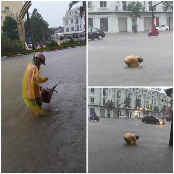 Bạn trẻ đi moi rác ống cống giữa trời mưa được dân mạng khen vì hành động đẹp.
