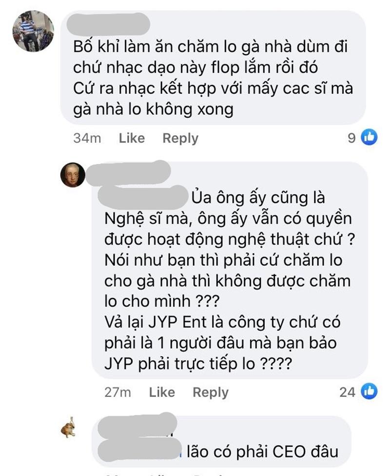 Các fan trách JYP cứ mải mê ra sản phẩm kết hợp với các nghệ sĩ khác trong khi chất lượng âm nhạc của 'gà nhà' lại đang có dấu hiệu đi xuống.