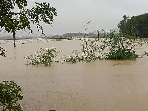 Nhiều địa phương ở Nghệ An ngập nặng trong sáng 30/10.