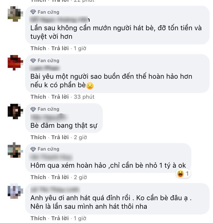 Khán già 'phiền lòng' về giọng hát bè choNoo Phước Thịnh