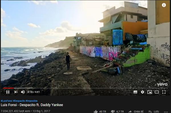Despacity là MV đầu tiên trên thế giới cán mốc 7 tỷ view nhanh nhất.
