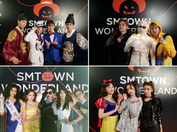 Năm ngoái SM còn tưng bừng chơi Halloween như thế