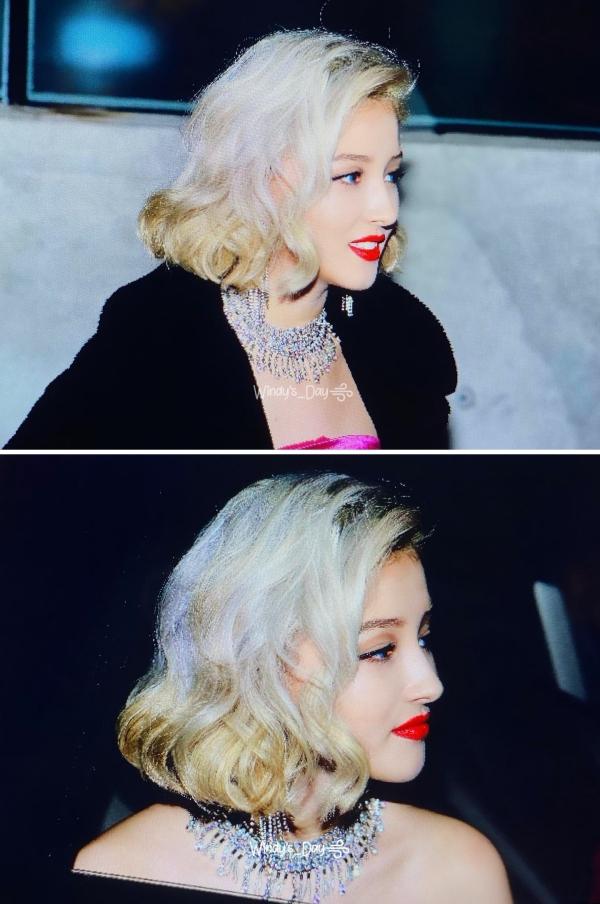 Nancy cosplay Marilyn Monroe trong phimDiamonds Are A Girl's Best Friend