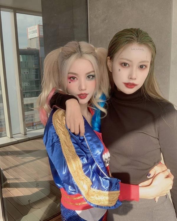 Sao Hàn chơi Halloween: Nancy làm Marilyn Monroe siêu nóng bỏng, cặp đôi Iz*One hóa thành Joker - Harley Quinn 4