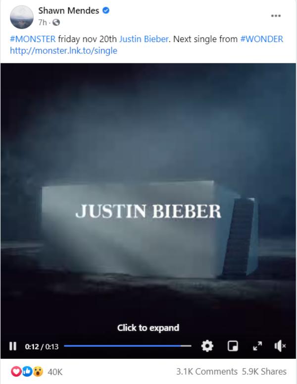 Shawn Mendes và Justin Bieber cùng một lúc chính thức công bố single kết hợp mang tên 'Monster'