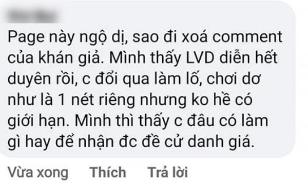Antifan bức xúc cho rằng BTC Mai Vàng xóa hết comment chê Lâm Vỹ Dạ
