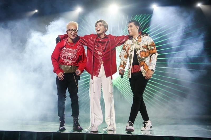 HIEUTHUHAI, Richchoi và Noo Phước Thịnh đã có một sân khấuTôi là ngôi saobùng nổ tại chung kếtKing Of Rap.